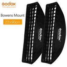 "2PCS Godox 9 ""x 35"" 22x90 centimetri Griglia A Nido Dape Softbox per Photo Strobe Studio Flash softbox Bowens Mount"