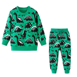 Image 4 - Jumping meters Baby Boys Clothing Sets Autumn Winter Boy Set Sport Suits For Boys Sweater Shirt Pants 2 Pieces Sets children
