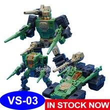 MFT aksiyon figürü oyuncakları VS 03 VS03 G1 küçük oranı Obstinate komutanı kafa savaşçı omuz silah deformasyon dönüşüm