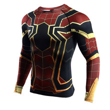 Raglan Sleeve Spiderman T Shirts Running Shirt Men Long Sleeve Compression Sports TShirt Gym Fitness Top Rashgard Soccer Jersey raglan sleeve botanical peplum top