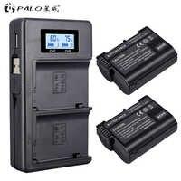 2 uds EN-EL15 EL15 EN-EL15a ENEL15a es EL15a batería + cargador Dual USB para Nikon D850 D810 D810A D750 D500 D7500 D7200 D7100