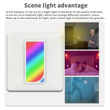 Countdown Timer Color Changing Smart Home Voice Control WIFI Remote Reschedule Scene Brightness Adjust Wall Light RGB Switch Fan(China)