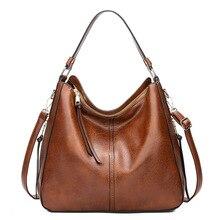 Hobos europy Crossbody torba na ramię panie Vintage znane marki luksusowe torebki damskie torby projektant miękkie skórzane torby dla kobiet 2019 sac