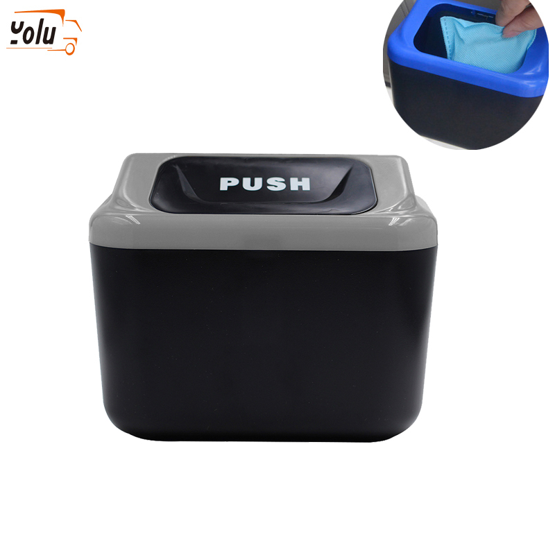 YOLU Car Trash Can Garbage Attractive Bin Auto Organizer Storage Box Rubbish Gargage Holder For Mercedes For Lada Car Accessorie