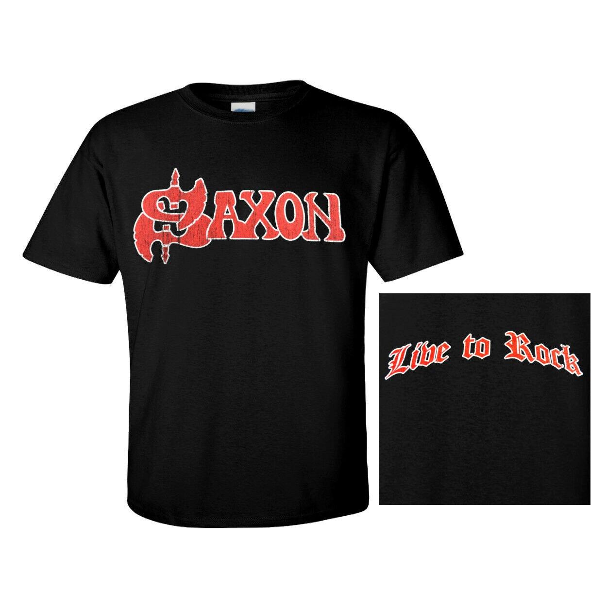 Black T-Shirt Saxon /'Crusader/' NEW /& OFFICIAL!