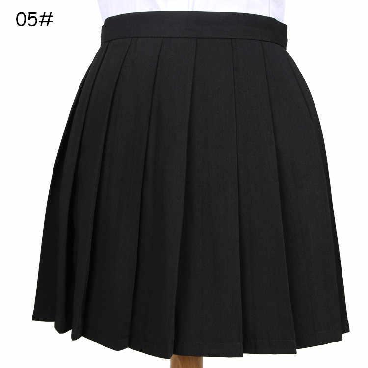 Vestidos escolares versión japonesa coreana estudiantes Cosplay Anime Falda plisada Jk uniformes Sailor Suit faldas cortas colegiala