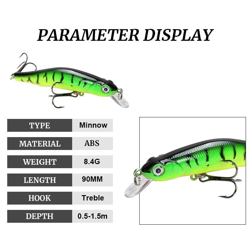 1pcs sinking Minnow Fishing Lure Wobblers Hard Artificial Bait 3D Eyes 8cm 8.5g High Quality Crankbait Plastic Baits Fish Pesca 3