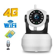 Hismaho câmera de vigilância interna, 4g 3g, cartão sim, ip 1080p 720p hd, sem fio, wi fi, câmera aplicativo camhi p2p gsm lte