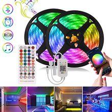 Led Strip RGB 5050 Color Changing Tape Diode DC 12V LED Light Bluetooth Control Music Sync Smart Led Nylon light For decoration