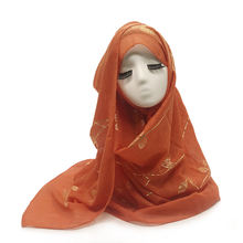 Арабских Женская шаль Головные уборы Женский хиджаб мусульманский