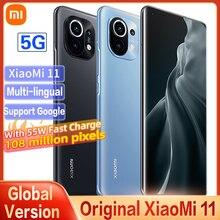 Xiaomi Mi 11 Global Version 8GB+256GB 5G Smartphone Snapdragon 888 3 Camera 100 Million Pixels 2K AMOLED Curved Flexible Screen
