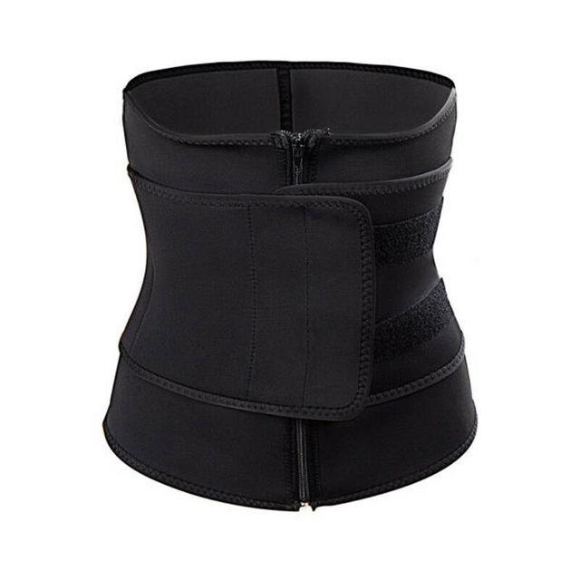 Stomach Slimming Hot Exercise Belts Fat Burner Waist Body Shaper Fashion Zipper Bandage Tight Belts Sports Slimming Body Belts 4