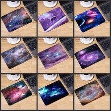Yuzuoan grande promotion russie coloré espace couleur jeu tapis de souris ordinateur tapis de souris en caoutchouc Rectangle tapis de souris 22X18CM