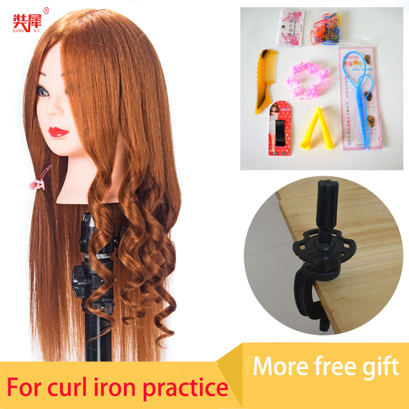 Training head mannequins for sale 80% real gold hair doll head for curl iron hairstyle practice oefenhoofd kapper maniquin head