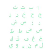 Arabic Letters Luminous Vinyl Wall Sticker For Kids Rooms Bedroom Accessories DIY Study Removable Decal poster