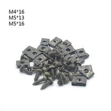 M4/M5 Dark Green Motorcycle Anti-Rust U-Type Metal Clips Self-Tapping Screws Retainer Fairing Bolts Kit for Ebike Moped Scooter цена 2017