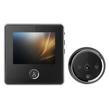 DD2 3.0 인치 LCD 전자 카메라 초인종 120 각도 적외선 야간 홈 보안 눈 구멍 뷰어 도어 벨