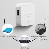 NAS-carcasa de disco duro de almacenamiento de red, caja de expansión Personal, nube, Nascloud A1, acceso remoto, HDD