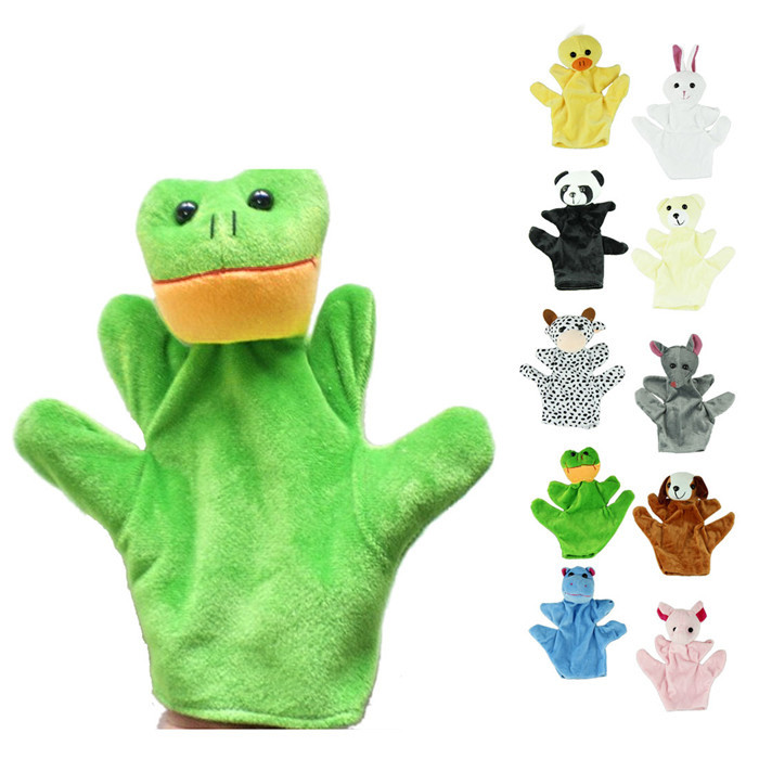 Plush-Toys Glove Puppets Funny Animal-Rubbit Newborn Baby For Zoo Farm Free-Time And
