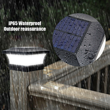 LED Intelligent Light Control Solar Power Lamp IP65 Waterproof Lights For Outdoor Garden Pathway Night Decoration And Lighting