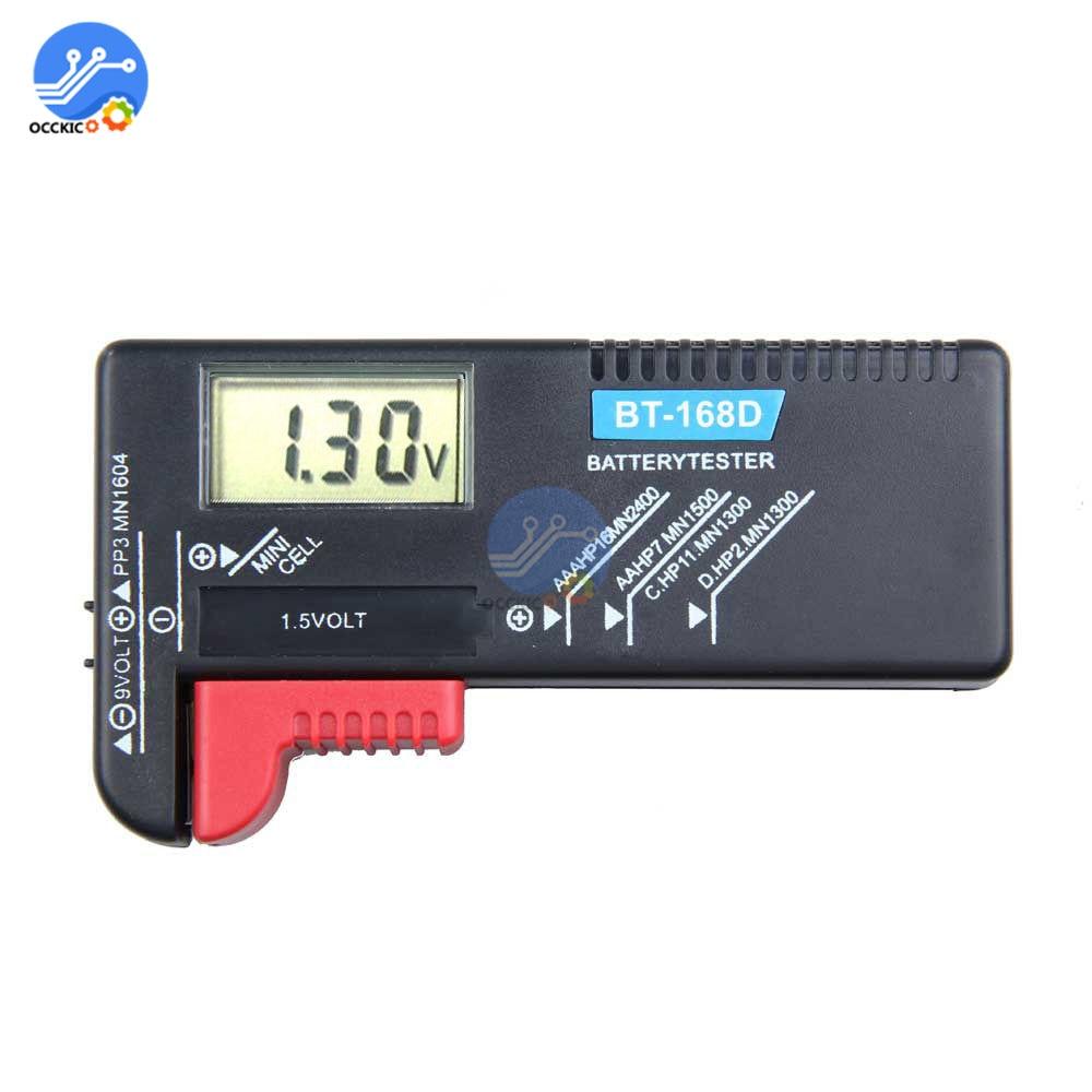 BT-168 BT168 Battery Tester Digital Display Volt Checker For AA/AAA/C/D/9V/1.5V Universal Button Cell Battery Voltage Meter