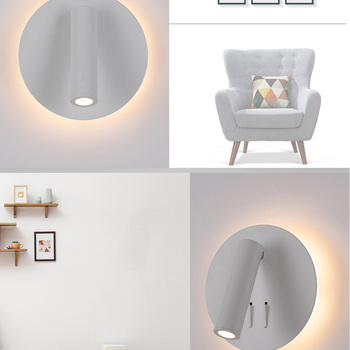 Modern Loft Beds | ZEROUNO LED Lights Sconces Modern Bedroom Room Study Book Lamp 220V Round Headboard Wall Lamp Corridor Decoration Arts Light