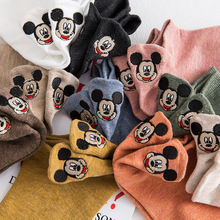 Disney Mickey Minnie Happy Socks Autumn Summer Short Socks Cute Socks For Girls Cotton