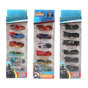 HOT Cars 6pcs/set Avengers Infinity War Alloy Cars Set Truck Model Car 1:64 Fast and Furious Diecast Cars
