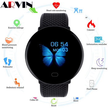 Arvin 2020 Men Smartwatch Sport Pedometer Smart Watch Fitness Tracker Heart Rate Monitor Women Clock for Android