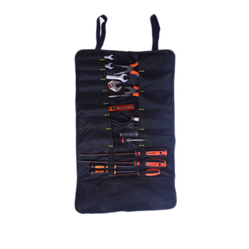Urijk Multifungsi Tas Praktis Membawa Menangani Roller Oxford Kanvas Pahat Tukang Listrik Toolkit Instrumen Case