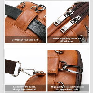 Image 4 - JEEP BULUO Multi function Small Sling Chest Bag Legs Waist Bag For Man New Fashion Casual Crossbody Men Messenger Bags