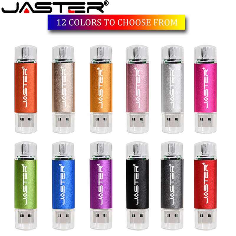 JASTER Mini  OTG Pen Drive 64 Gb 32 Gb Cle Usb Flash Drive 128 Gb High Speed Pendrive 16 Gb 8 Gb Flash Usb Memory Otg Usb Stick