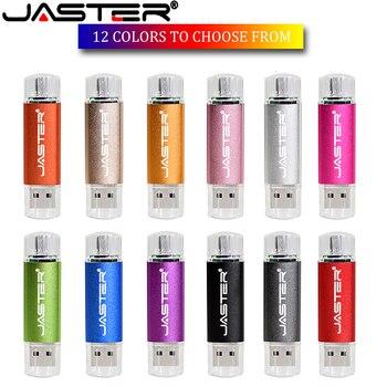 JASTER Mini  OTG Pen Drive 64 Gb 32 Gb Cle Usb Flash Drive 128 Gb High Speed Pendrive 16 Gb 8 Gb Flash Usb Memory Otg Usb Stick