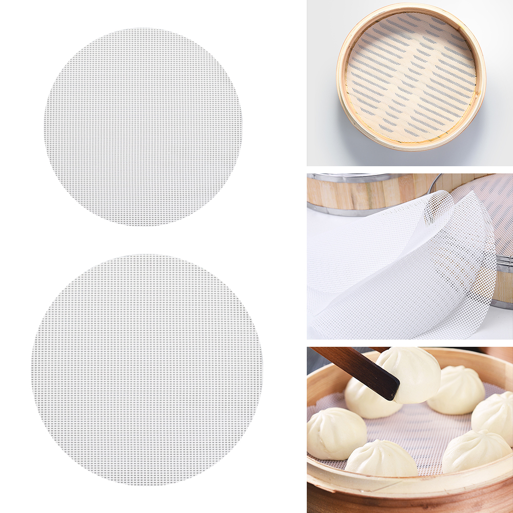 Air Fryer Steamer Liners Premium Perforated Wood Pulp Papers Non-Stick Steaming Basket Mat Baking Cooking Tools Accessories