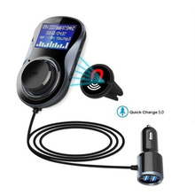 Bluetooth FM Transmitter Audio Car Mp3 Player Wireless In-Car FM Modulator Handsfree Bluetooth Car Kit with LCD Display cimiva 7inch tft2 din car dvd player touch display universal built in bluetooth fm transmitter mp3 4 5 bluetooth 800 480 reverse