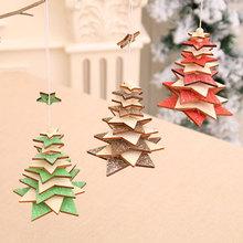 Ozdoby choinkowe dla domu drewniana gwiazda wisiorki płatki śniegu nowy rok boże narodzenie wiszące ozdoby na choinkę wystrój nowego roku Kerst Navidad tanie tanio g-221 Bez pudełka new Year decoration noel kerst decoratie xmas