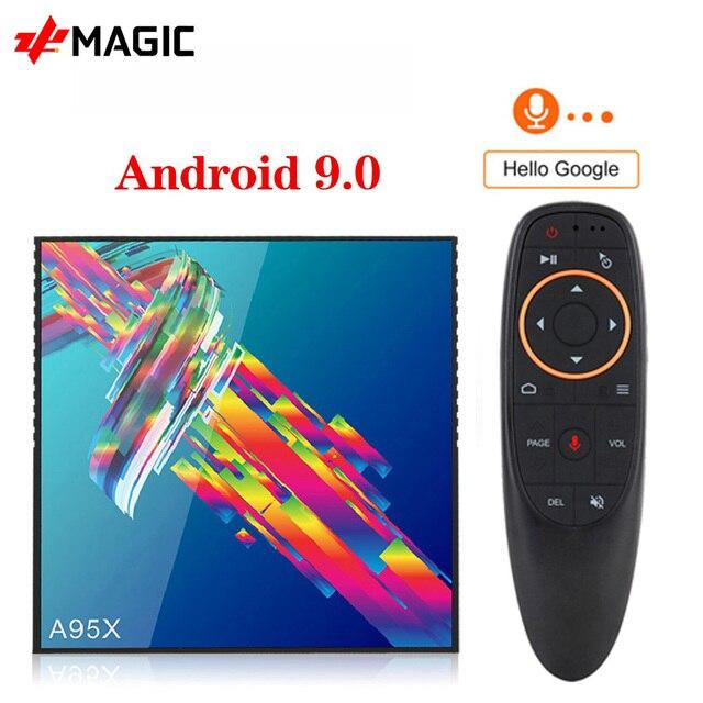 Smart Box Dispositivo de TV inteligente A95X R3, Android 9,0, 4GB de RAM, 64GB de ROM, Wifi, Youtube, reproductor multimedia 4K, Google Play