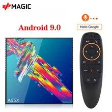 Smart TV Box A95X R3 Android 9.0 TV Box 4GB di RAM 64GB ROM Wifi Youtube 4G32G Media Player 4K Google Play smart box android tv box