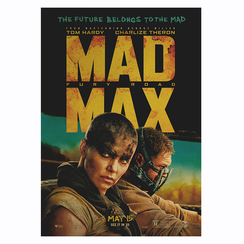 Movie Mad Max 4-Road to Fury Poster Retro Kraft Paper Poster Bar Room Decoration Painting Art Wall Sticker Picture