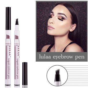 Waterproof Liquid Eyebrow Pen 4-Head Fork Tip Eyebrow Tattoo Pencil Fine Sketch Eye Brow Enhancer Makeup Tools