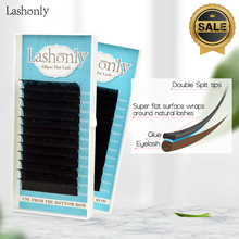Lashonly Matte Flat False Eyelash  Soft Ellipse Split Tips Faux Mink Extension Qeelasee Factory Quality