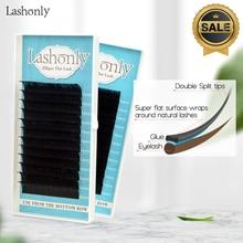Lashonly Matte Flat False Eyelash  Soft Ellipse Split Tips Faux Mink Extension Qeelasee Factory Quality