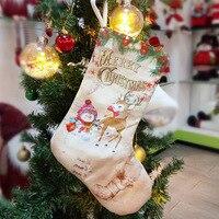 Geschenk Tasche Shopping Mall Stiefel Party Kinder Schneemann Elch Cute Santa Claus Anhänger Wohnkultur Weihnachten Strümpfe Urlaub Baum Hängen