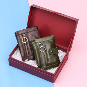 Image 5 - Contacts Small Women Wallet Genuine Leather Wallets Female Coin Purse Pocket Zipper Short Card Holder Clutch Money Bag Rfid