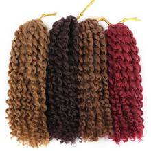 Pageup Ombre Spring Twist Hair Crochet Braids 8 Inches Afro Curly Synthetic Extensions For Women Braiding 3Pcs/Pack