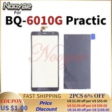 Preto original testado monitor para bq móvel BQ 6010G practic 6010g display lcd tela de toque sensor vidro digitador
