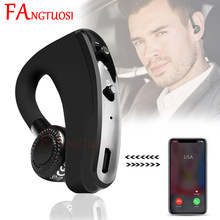 FANGTUOSI V9 Wireless Bluetooth Earphone Handsfree Noise Control Business Ear-hook Headset with Mic Sport Earphones For iPhone(China)