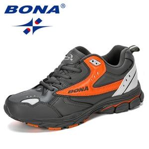 Image 3 - BONA 2019 New Designer Professional Leather Running Shoes Men Spring Autumn Walking Shoes Men Athletic Jogging Sneakers Footwear