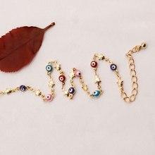 Cute Yoga Star Foot Chain Anklet Turkish Blue Evil Eye Pentagram Charm Ankle Bracelet For Women Jewelry Tobillera