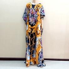 2019 New Design African Dashiki Dress African Nigeria Ankara Yellow Print Dresses Plus Size